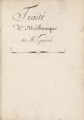 Cover of Traité de mechanique
