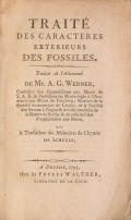 Cover of Traité des caracteres extérieurs des fossiles