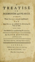 Cover of A treatise on diamonds and pearls