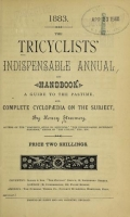 Cover of The tricyclists' indispensable annual and handbook
