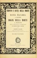 Cover of Trionfo e danza della morte; o, Danza macabra a Clusone