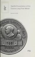 Cover of Twelfth presentation of the Charles Lang Freer Medal, November 18, 2010