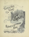 Cover of Twenty-five years of brewing
