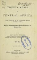 Cover of Twenty years in central Africa