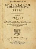 """Cover of """"Tychonis Brahe Dani Epistolarvm astronomicarvm libri. /"""""""
