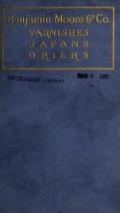 "Cover of ""Varnishes, japans, drier"""