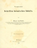 "Cover of ""Vermischte Schriften botanischen Inhalts /"""