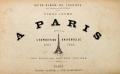 Cover of Vingt jours à Paris pendant l'Exposition universelle, 1889