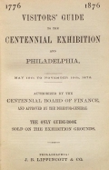 Cover of Visitors' guide to the Centennial Exhibition and Philadelphia
