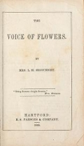 Cover of The voice of flowers