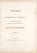 Cover of Vues des Cordillères, et monumens des peuples indigènes de l'Amérique v. 1