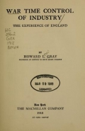 Cover of War time control of industry