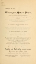 Cover of The Washington-Madison papers collected and preserved by James Madison, estate of J.C. McGuire