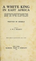 Cover of A white king in East Africa