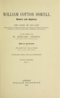 """Cover of """"William Cotton Oswell, hunter and explorer"""""""