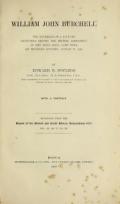 "Cover of ""William John Burchell"""