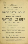 Cover of Wm. Brown's wholesale and retail price catalogue of foreign and colonial postage stamps