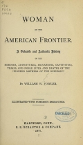 Cover of Woman on the American frontier