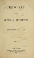 Cover of The women of the American Revolution v.1 (1848)