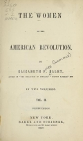 Cover of The women of the American Revolution v.2 (1849)