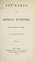 Cover of The women of the American Revolution v.3 (1850)