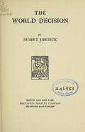 The world decision, by Robert Herrick