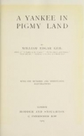"Cover of ""A Yankee in pigmy land"""