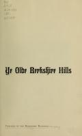 Cover of Ye olde Berkshire Hills