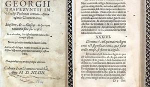 Georgii Trapezuntii In Claudii Ptolemaei centum aphorismos commentarius...