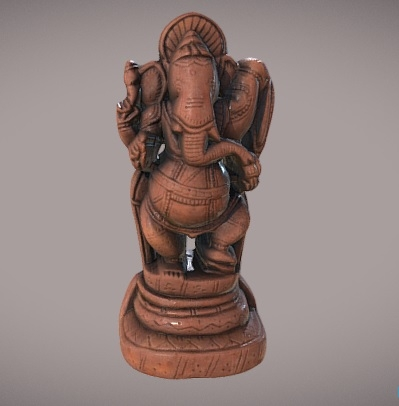 A 3D Printed model of the Indian God Ganesh, which resembles an elephant