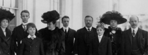 Photograph of the Roosevelt family