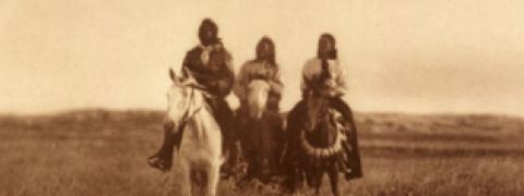 Image of Native Americans on horseback