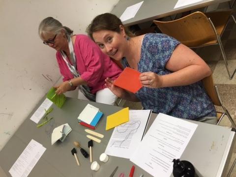 Crafting at Indoor Recess