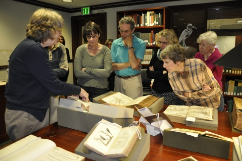 Guests participate in a private, behind-the-scenes tour of the Joseph F. Cullman 3rd Library of Natural History