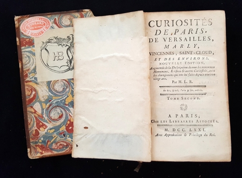 Title page for Curiousits de Paris...vol.1