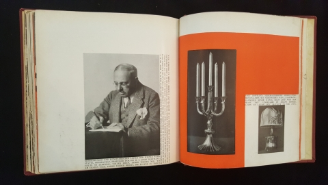Man and candleabra in The Wiener Werkstatte