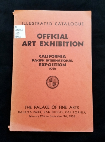 Cover, Official Art Exhibition of the Palace of Fine Arts, Balboa Park.