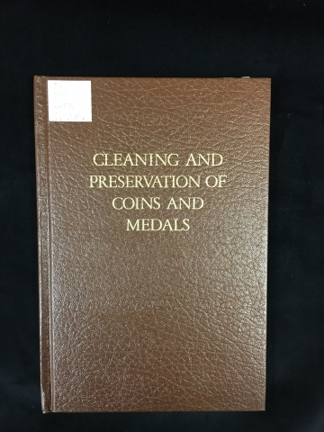 Cleaning and preservation of coins and medals, cover