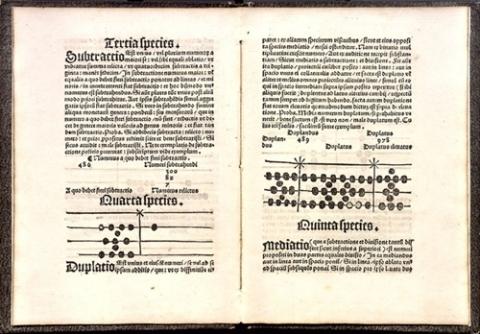 Algorithmus linealis numerationem additionem subtractionem duplationem, mediationem, multiplicationem, divisionem, et progessionem una cum regula de tri per stringens.