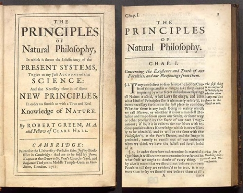 The principles of natural philosophy, in which is shewn the insufficiency of the present systems, to give us any just account of that science...
