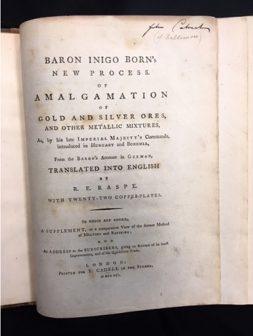 New Process of Amalgamation of Gold and Silver Ores, title page