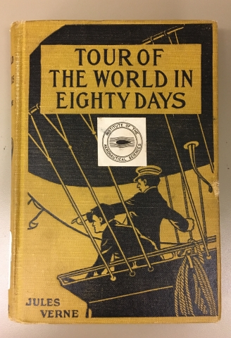 Cover of Tour of the World in Eighty Days, by Jules Verne.