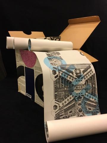 Documenta: the Paolo Solari retrospective, Corcoran Gallery of Art, 1970 exhibition catalog. Box open with select scrolls.