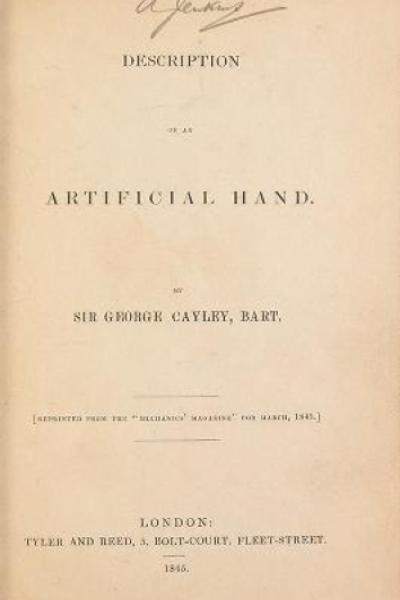 "Cover of ""Description of an artificial hand."""