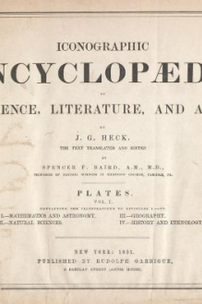 """Cover of """"Iconographic encyclopaedia of science, literature, and art"""""""