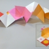 Artists' folding paper model