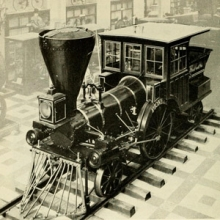 photo of an old train engine