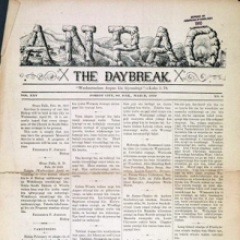 Front page of the Sioux [sic] Newspaper Anpao.