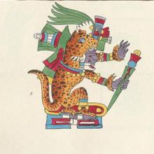 picture of a central American jaguar god ?