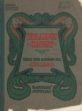 Cover of 1903 illustrated catalogue